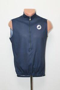 Castelli Cycling Jersey Vest Gilet Shirt Sleeveless Bike Cycle Size L Blue Adult