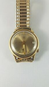 Bulova Accutron Men's Watch M7, working , 14 karat gold filled !