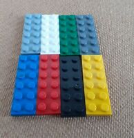 LEGO Flat Plate x 10 - 2x6 Part 3795 - Genuine Lego Choose Your Colour Used