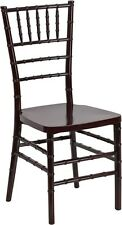 10 PACK Mahogany Resin Stackable Chiavari Chair FREE Black Vinyl Seat Cushions