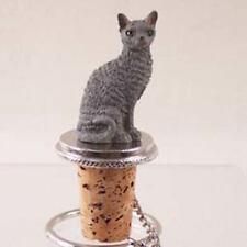 Blue Cornish Rex Cat ~ Wine Bottle Stopper