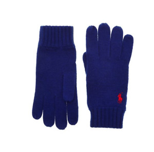 Polo Ralph Lauren Blue Merino Gloves - Brand New With Tags