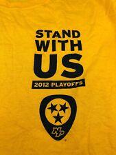 Nashville Predators 2012 Playoffs Stand With Us Promo Tee Shirt Sz XL
