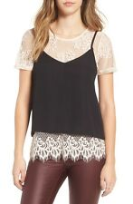 NWT Socialite Lace Tee & Camisole (LQ7) Size Small