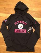 Nike Pittsburgh Steelers Womens Breast Cancer Awareness Hoodie Small Nwt 843686