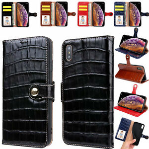 Fashion Crocodile Genuine Leather Wallet Case Cover For iPhone 11 Pro Xs Max XR