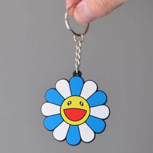 1pcs Blue Rubber Flower Keychain Classic Strap Kaikai Kiki TAKASHI MURAKAMI