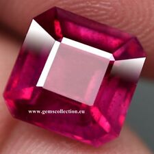 AAA - NATURAL RUBY- RUBINO CT 6.15 SI  PINKISH RED COLOR SCISSOR CUT MONZAMBIQUE