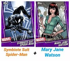Topps Marvel Collect - Purple Fusion SYMBIOTE SUIT SPIDER-MAN/ MARY JANE WATSON