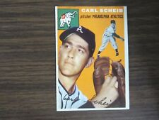 1954 Topps # 118 Carl Scheib Card ( B67 ) Philadelphia Athletics A's