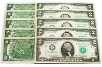 UNCIRCULATED US DOLLAR*SERIES OF $2 TWO DOLLAR BILL UNC