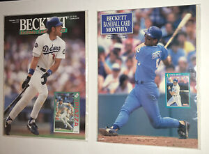 Beckett Baseball Feb 1991 #71 George Brett Mint + Dec 1993 Mike Piazza Both HOF