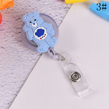 Cute Bear Retractable Reel Badge Key Tag Clip ID Card Name Tags Belt Clips ZFCA