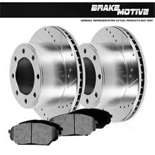 Front Drilled Slotted Brake Rotors +Metallic Pads Ford 95 - 99 F250 95 - 97 F350