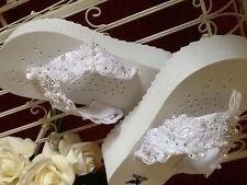 Bride, Wedding, Bridal Party Custom  Lace  Flip Flops,, White or Ivory  Fabulous