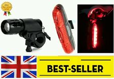 Front Rear lights set - head back lamp very bright red mountain road bike cycle