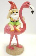 Garden Gnome Statue - Gnome and A Flamingo - Indoor/Outdoor Garden Gnome Sculpt