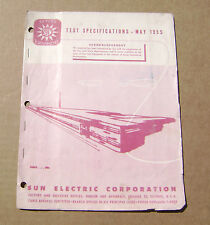 1955 Sun Electric Auto Car Test Specs Folder Willy's Plymouth Pontiac Studebaker
