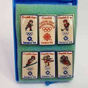 Campbell's Soup 1984 Sarajevo Winter Olympics Event Tack Pins FULL SET EUC!