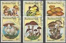 Timbres Champignons Burkina Faso 676/81 o lot 3128