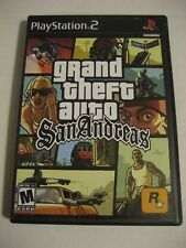 PS2-Grand Theft Auto: San Andreas  Includes Instructions and Poster/Map
