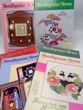 Needlepoint News Lot 6 1987 1988 1980s Stitching Patterns