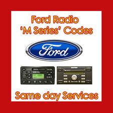 Decode Unlock for M Code For FORD CD RADIO CASSETTE Player 3000 4000 5000 6000