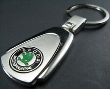 FASHION SKODA LOGO CHROME Plated Silver Metal KEY RING CHAIN OCTAVIA SP KEYRING