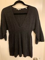 Vince Womens Sweater Size m Taupe Gray Brown V-Neck Pullover Wool CashmereTop