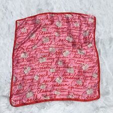 COACH Silk Scarf Red Pink Perfume Bottle Square Signature Poppy Accessories -A