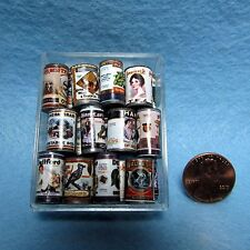 Dollhouse Miniature Set of 24 Canned Food Items for Country Store - H2276