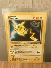 Pikachu No.4 Black Star Promo First Movie Pokemon Card. Excellent Condition