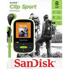 SanDisk Clip Sport 8GB MP3 Player with microSDHC slot (LIME)