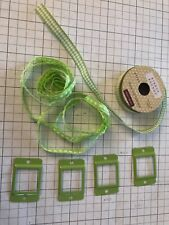 Close to My Heart Sweet Leaf Collection Ribbon Rounds and Buckles