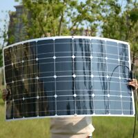 Mono 20V 100W Flexible Solar Panel For Motorhome Boats Roof 12V Battery Charger