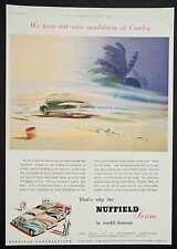 NUFFIELD - Vintage Colour Magazine Advert - Motoring / Car Ad (1952) MORRIS *