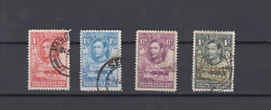 BECHUANALAND PROTECTORATE 1938 GEORGE VI DEFINITIVES TO 1 SHILLING USED