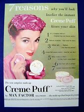 NEW & Unused Vintage MAX FACTOR CREME PUFF Original Postcard RARE 1950's Style