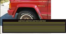 1987-1992 JEEP XJ CHEROKEE LIMITED CAPITAL LETTERS STRIPE DECAL STICKER PACKAGE