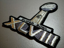 2-2-2014 SUPER BOWL XLVIII SUPERBOWL SUPER BOWL 48 SILVER METALLIC JERSEY PATCH