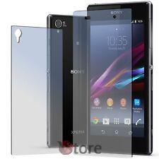 4 Pellicola Per Sony Xperia Z1 2 Fronte 2 Retro Proteggi Salva Schermo Display