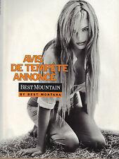 """PUBLICITE ADVERTISING  1996   BEST MOUNTAIN  pret à porter """" AVIS DE TEMPETE """""""