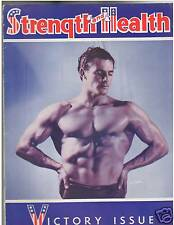 Strength & Health Bodybuilding Weightlifting Mag Victory Issue Carl Cathay 3-42