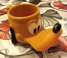 Vintage 1992 pluto plastic mug disney promotional ware some rubbing to nose