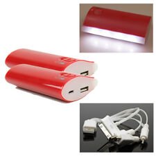2 5200MAH POWER BATTERY CHARGER MICRO USB RED NOKIA LUMIA 1020 920 LG OPTIMUS G2