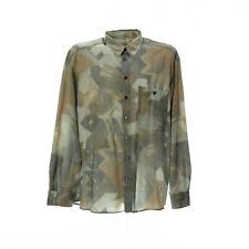 Vintage Herren Langarmhemd XL Freizeit Shirt Mix Muster Retro Hemd
