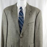 Ralph Lauren Men's 42 R 2 Button Herringbone Gray Wool Sport Coat Suit Jacket