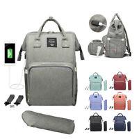 Baby Diaper Bag USB Charging Large Capacity Waterproof Mummy Nursing Backpack
