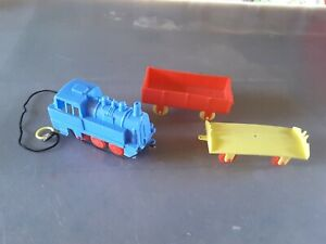 THREE PIECES Vintage  Plastic Toy  TRAIN CARRIAGES