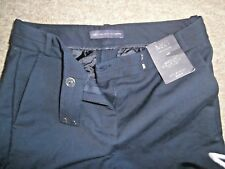 MARKS & SPENCER Collection Navy Blue Tailored Stretch TROUSERS~UK 8~NEW w/TAG